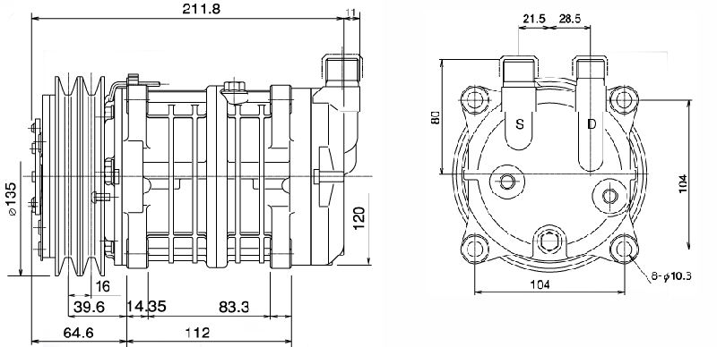 TM13, TM15, TM16 Technical Drawings